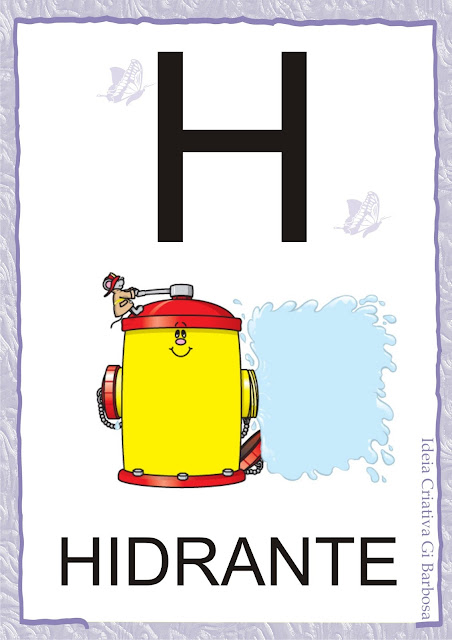 Alfabeto Bastão para Imprimir Grátis Jardim da Fantasia