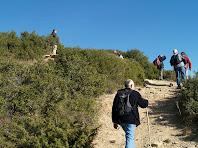 La darrere pujada al Puig Cornador