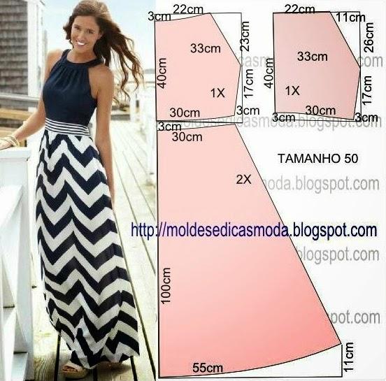 Cucire vestito lungo estivo