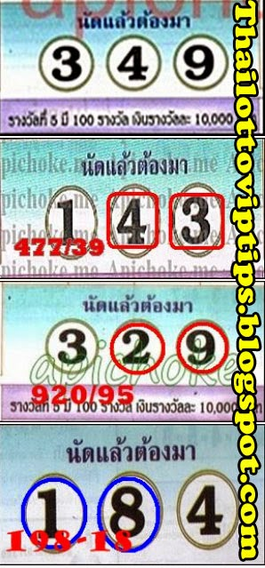 Thai lotto 3up Best Game 16-07-2014