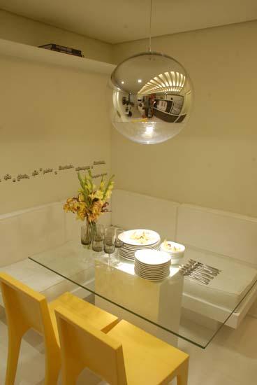 Banco Baú Para Sala De Jantar ~ De tudo um pouco! DPA  Mesa estilo canto alemão e com tampo de