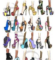 shoe illustration footwear sketches fashion design jerron couture