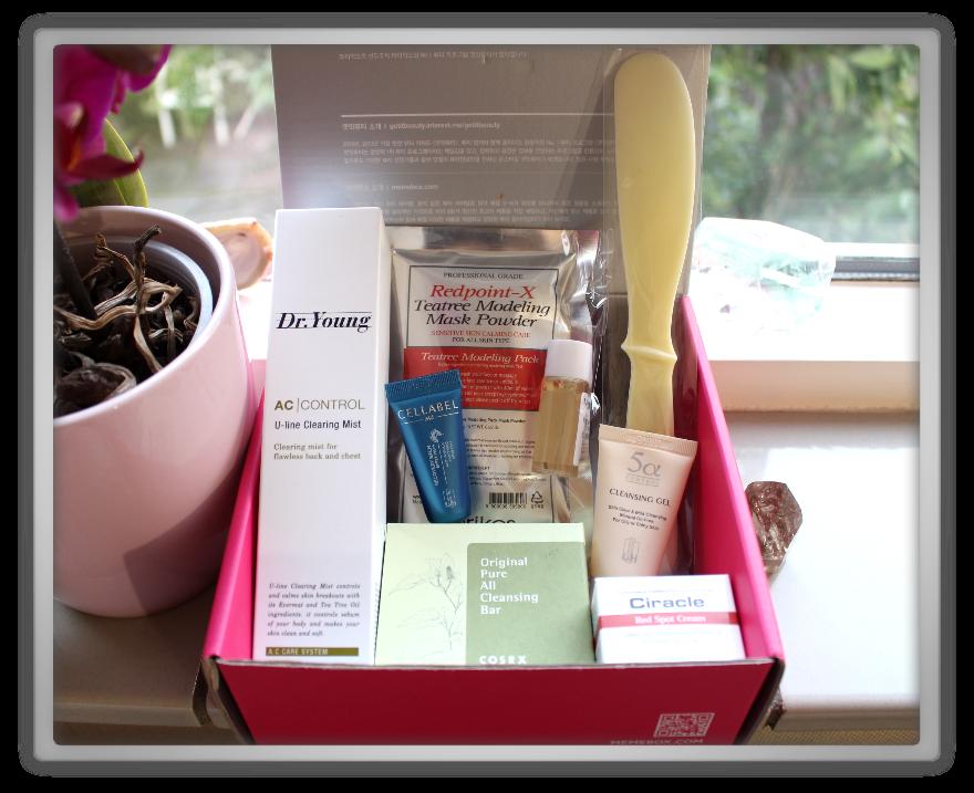 겟잇뷰티박스 by 미미박스 memebox free from oil & trouble  beautybox # unboxing review preview box inside