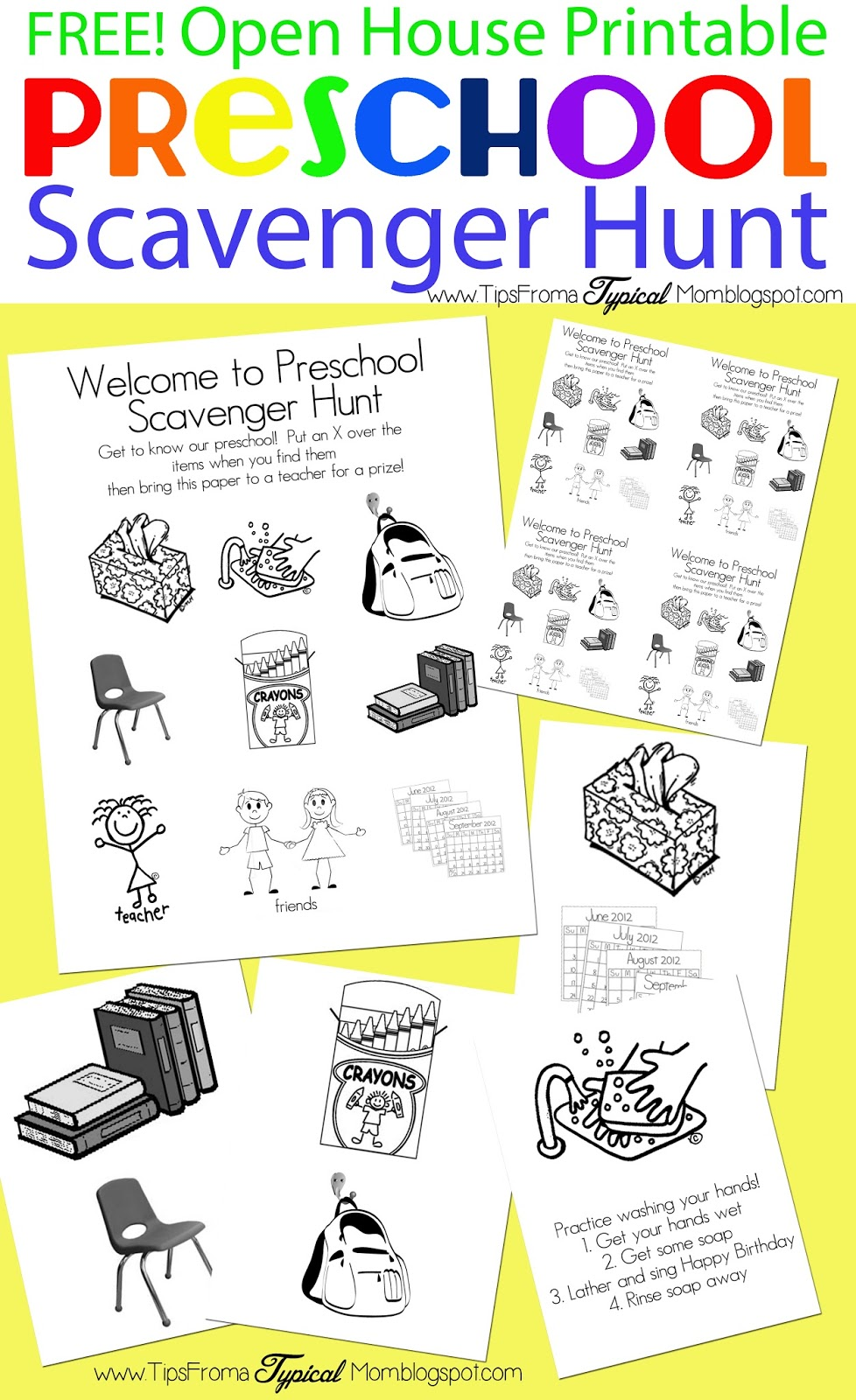 image regarding Classroom Scavenger Hunt Printable known as Preschool Open up Space Cost-free Printable Scavenger Hunt - Recommendations