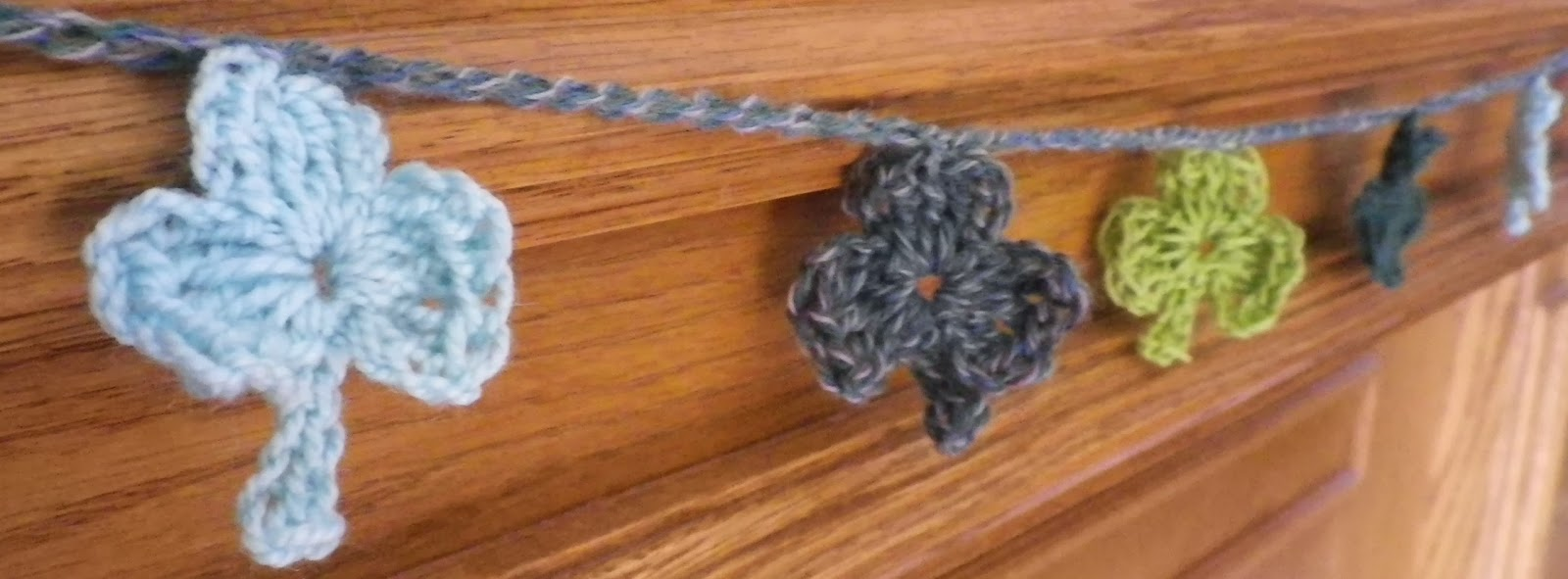 Crocheted Shamrock Garland - by Feather of Crescent Moon Collective