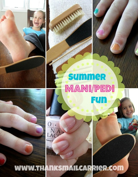 summer mani pedi fun