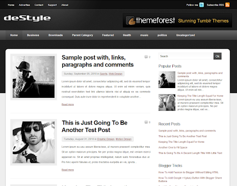 deStyle Blogger Theme