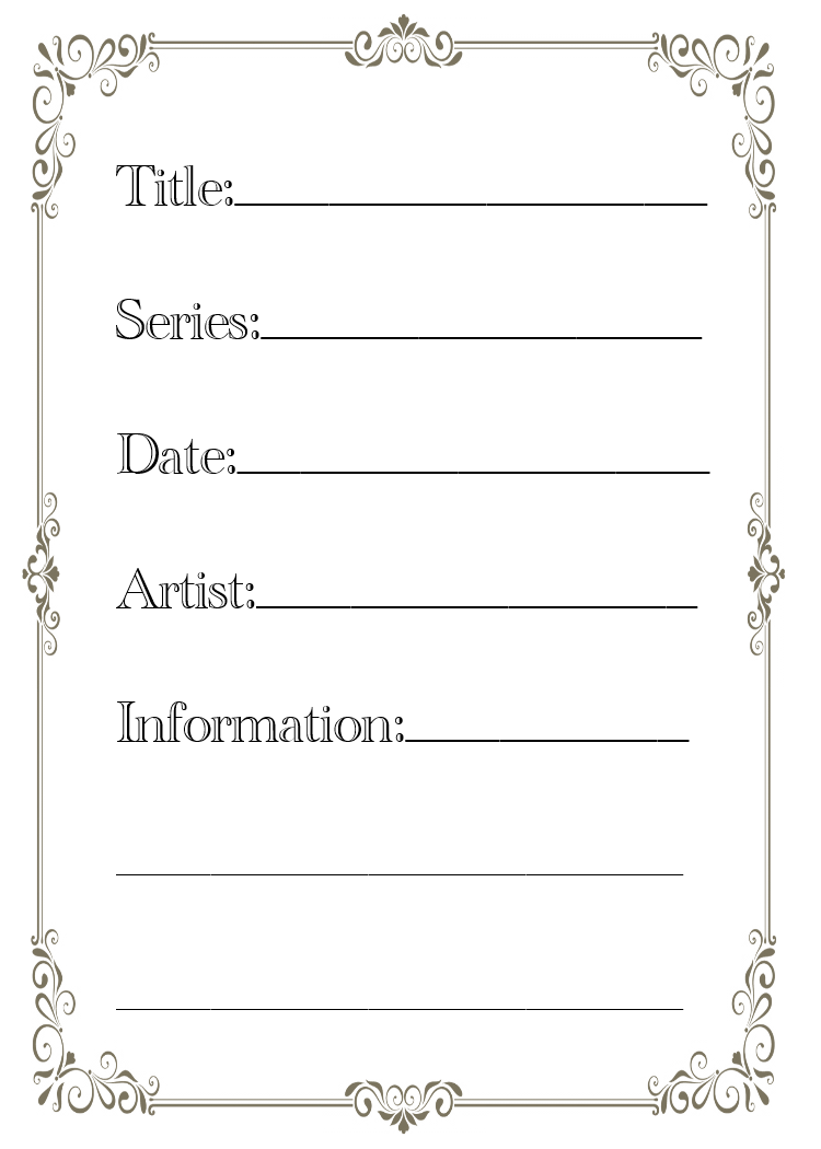 Outstanding Artist Trading Card Template Vignette Example Resume