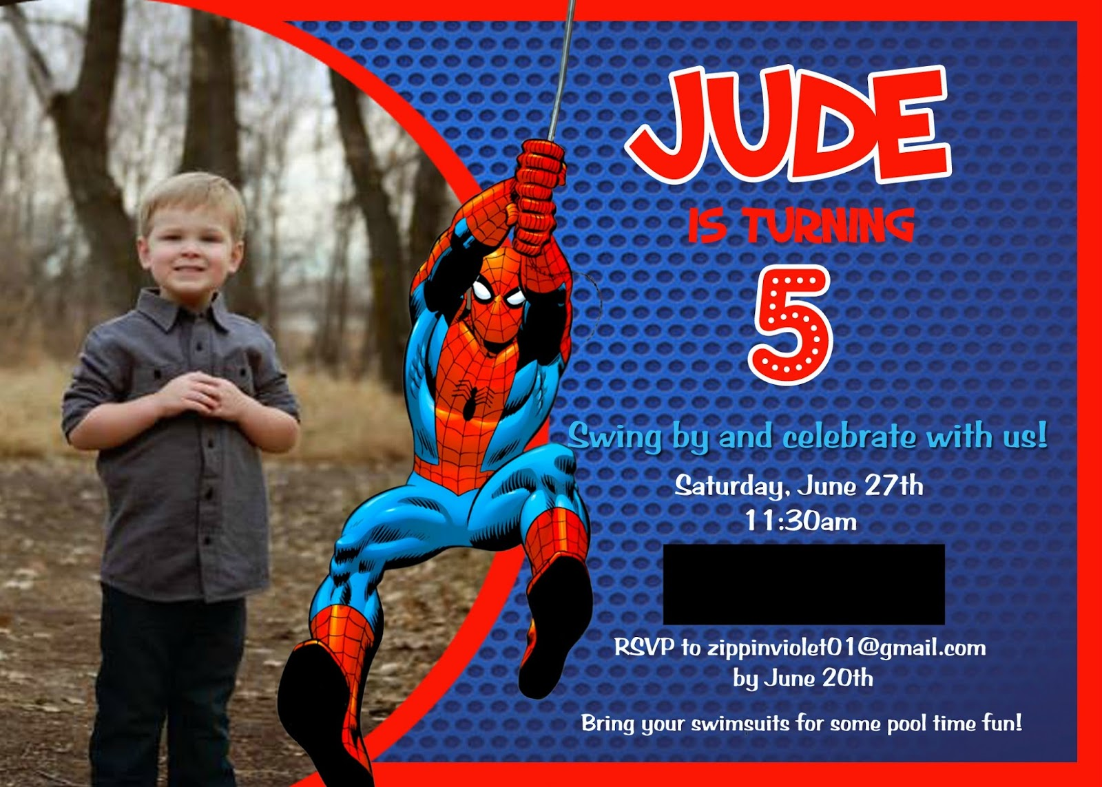 A Spidery SpiderMan Birthday Party Building Our Story - Spiderman birthday invitation maker free