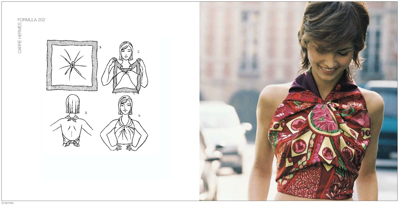 via fashioned by love | how to tie a scarf | how to dress like Parisian | style lessons from Hermes