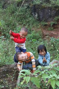 H'mong children in Mường Khương