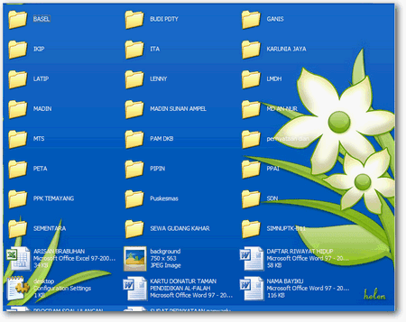 memberi Background gambar Folder di windows explorer
