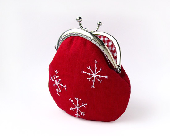 Christmas coin purse, кошелек