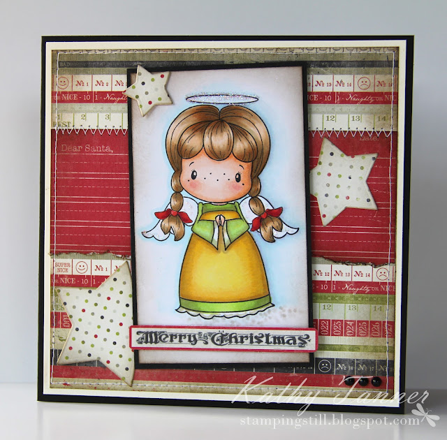 Peace On Earth, CC Designs, Bunny Zoe's Crafts, Authentique Joyous, Christmas, Copics