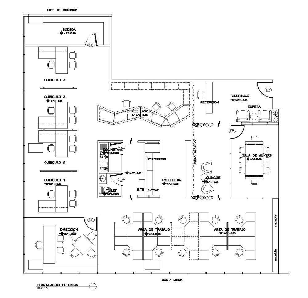 Plano de cubiculos pictures to pin on pinterest pinsdaddy for Cubiculos de oficina