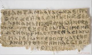 Papiro recentemente descoberto do século 4 contendo uma referência a esposa de Jesus
