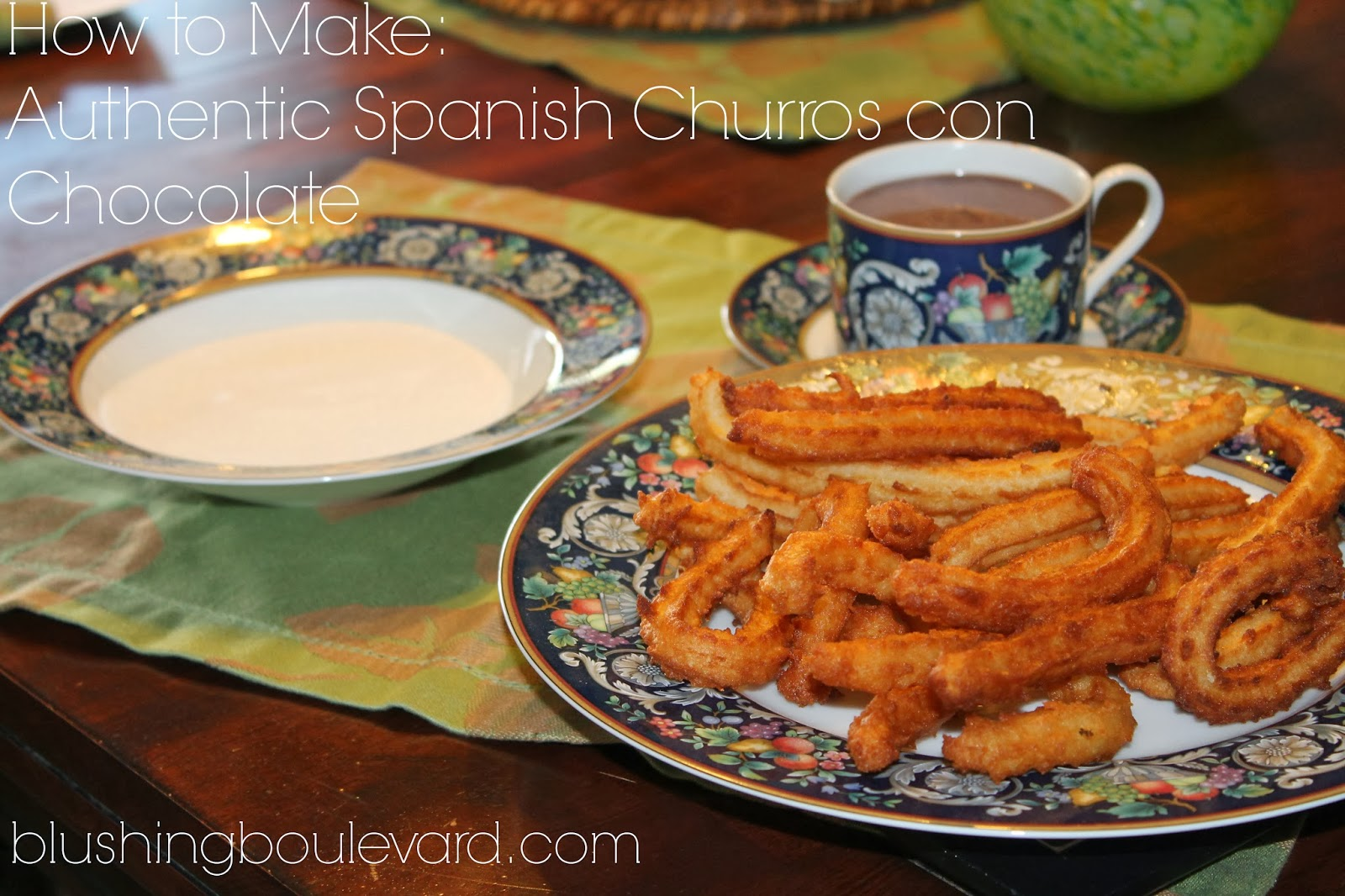how to make authentic Spanish Churros con Chocolate