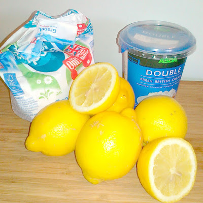 Lemon POsset Ingredients