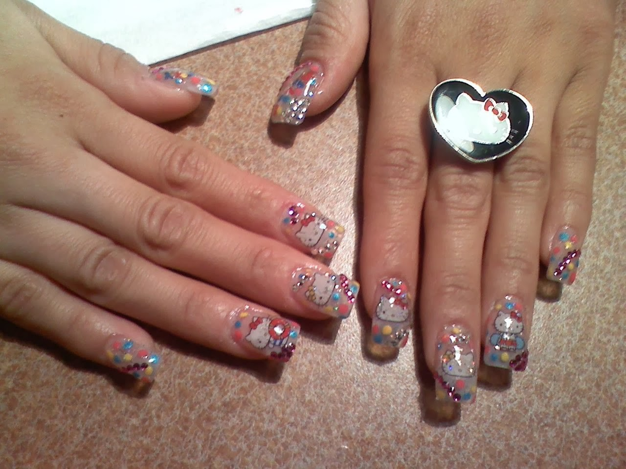 Fabulous Hello Kitty 3d Nail Art