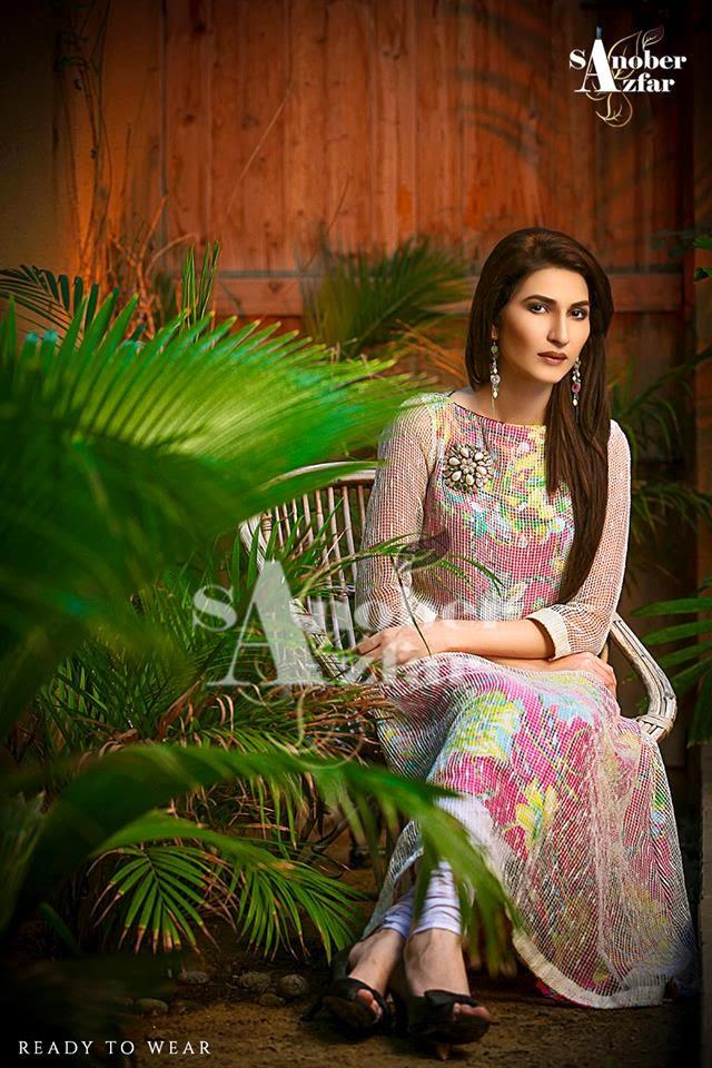 Sanober Azfar Winter Party Wear Dress Collection