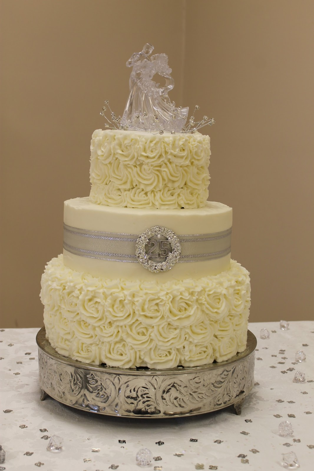 the simple cake silver wedding anniversary cake