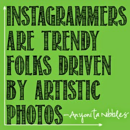 Instagram photos should be trendy and artistic and reflect what's happening currently. From Anyonita Nibbles