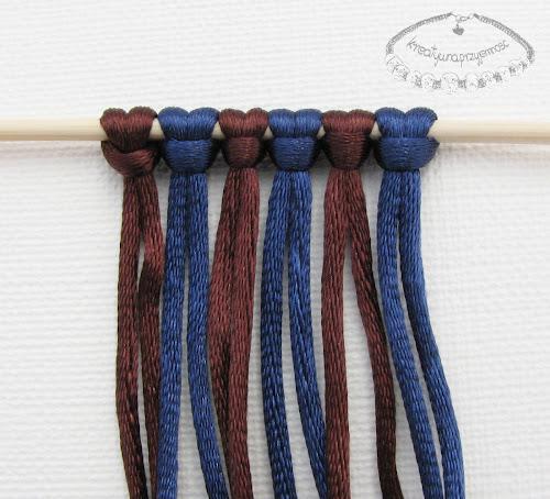 węzeł rypsowy - makrama - 2