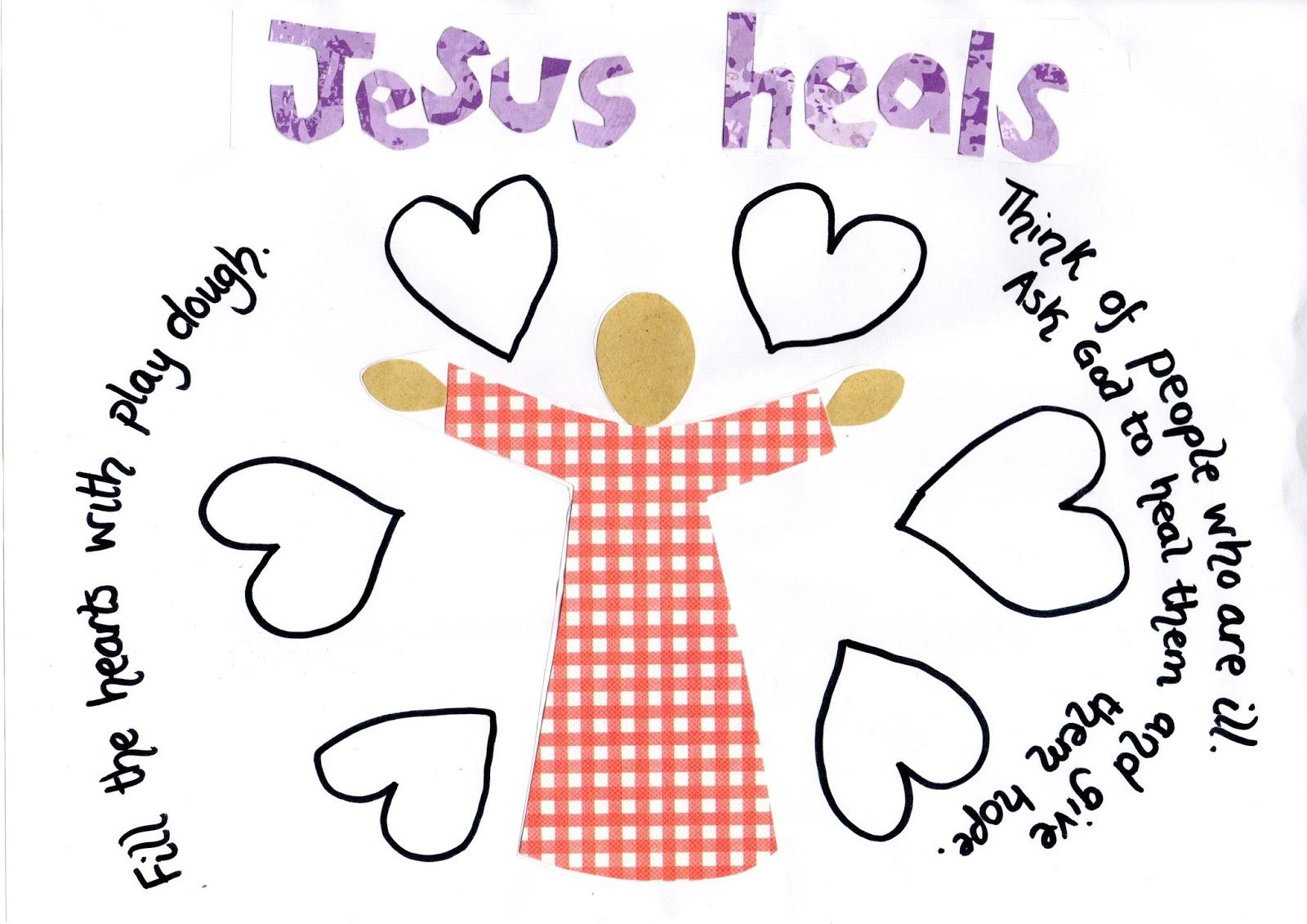 flame creative children 39 s ministry jesus the healer play dough mat. Black Bedroom Furniture Sets. Home Design Ideas