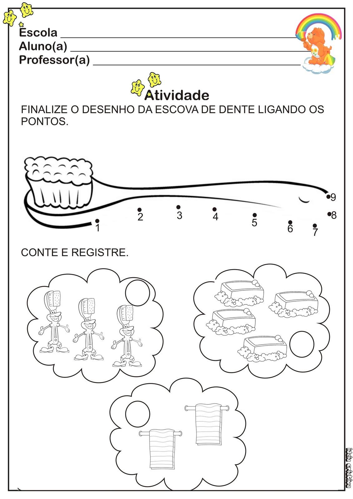 Top Alegria de Aprender na Educação Infantil: Atividades sobre higiene  OU93