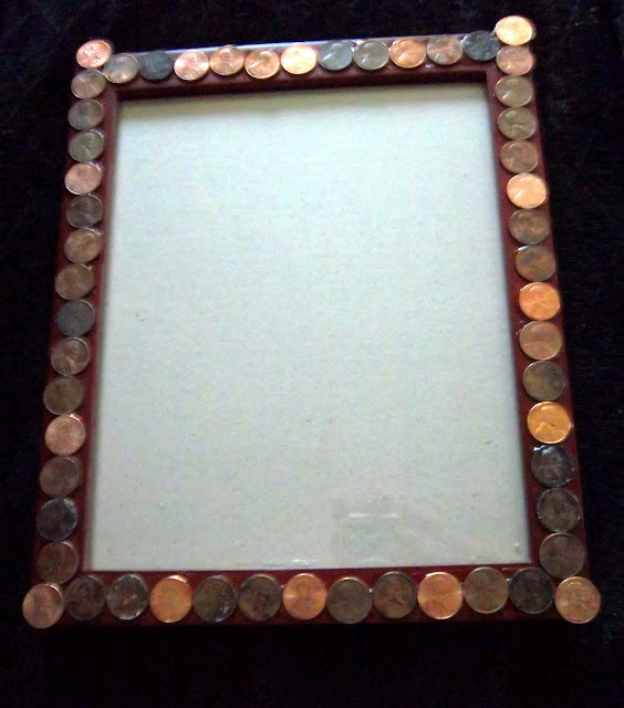 crafts and creations with kmom14 lincoln penny picture frame