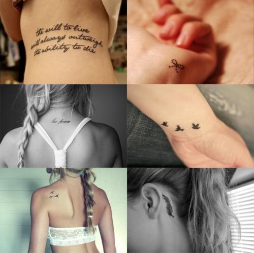 je een kleine bescheiden tattoo hebt met een betekenis vind ik het ...