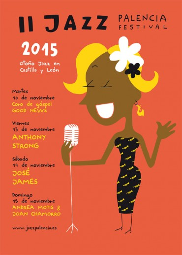 Cartel mauro Jazz Palencia Serigrafia
