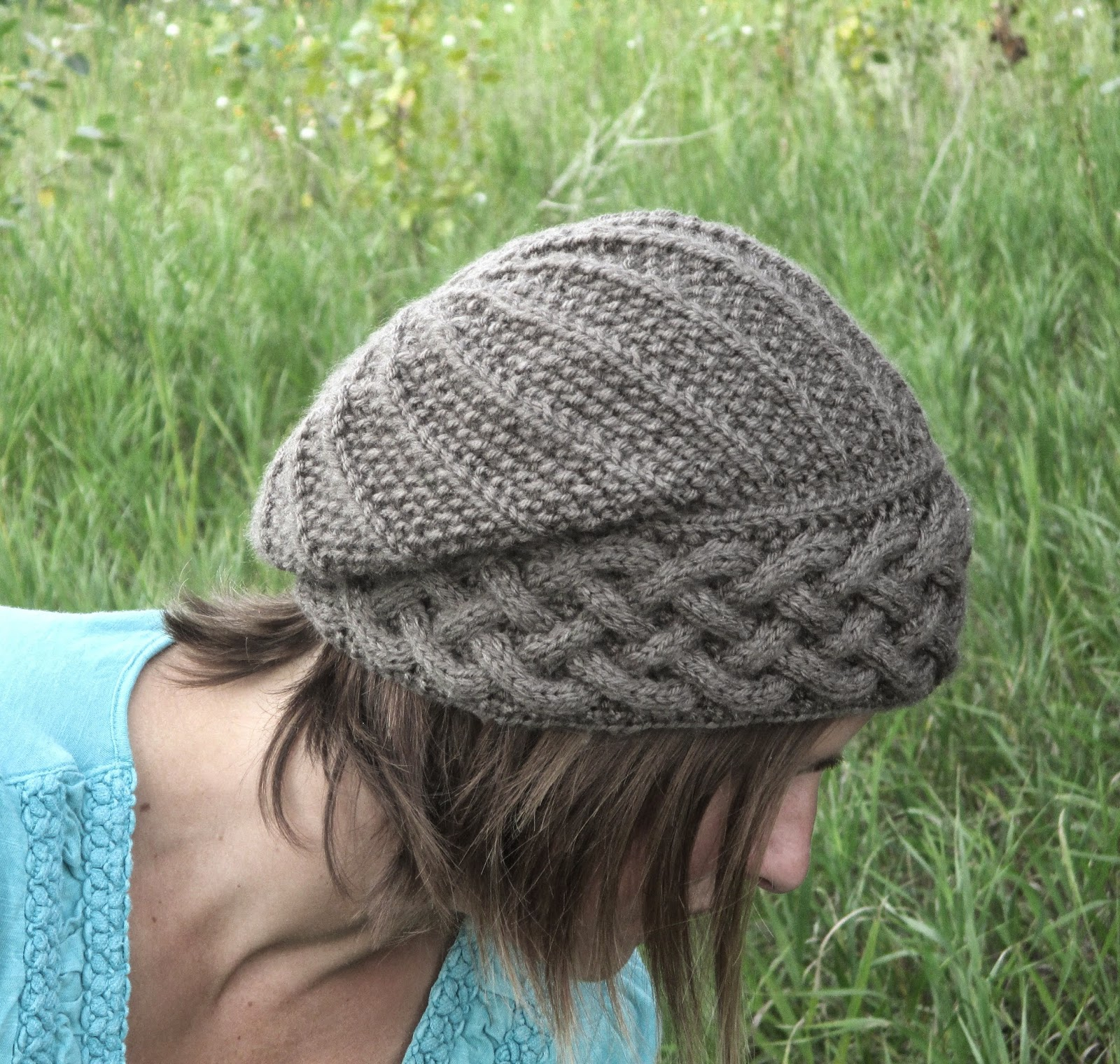 Slouchy Cable Knit Hat Pattern : Knot Enuf Knitting: Song of Peace Slouch Hat Knitting Pattern