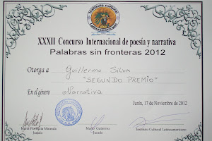 "2do Premio - ""Palabras sin fronteras 2012"""