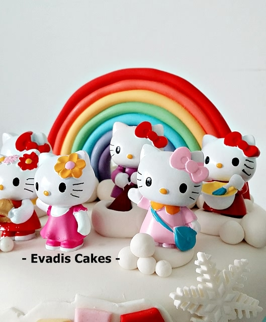 Hello Kitty picture of candy land cake