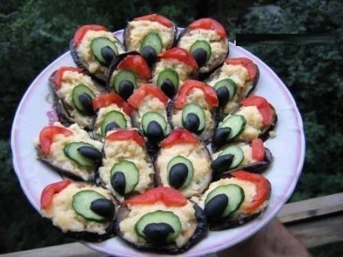 Закуска из баклажан - Павлиний хвост