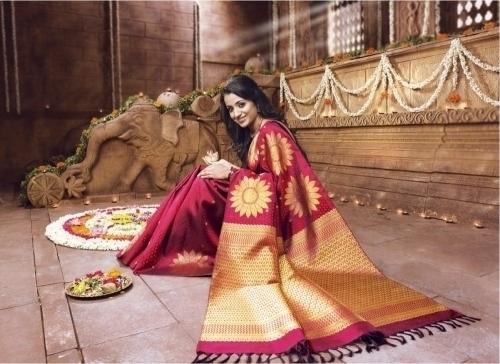 Trisha in Pothys Silk Sari Photos