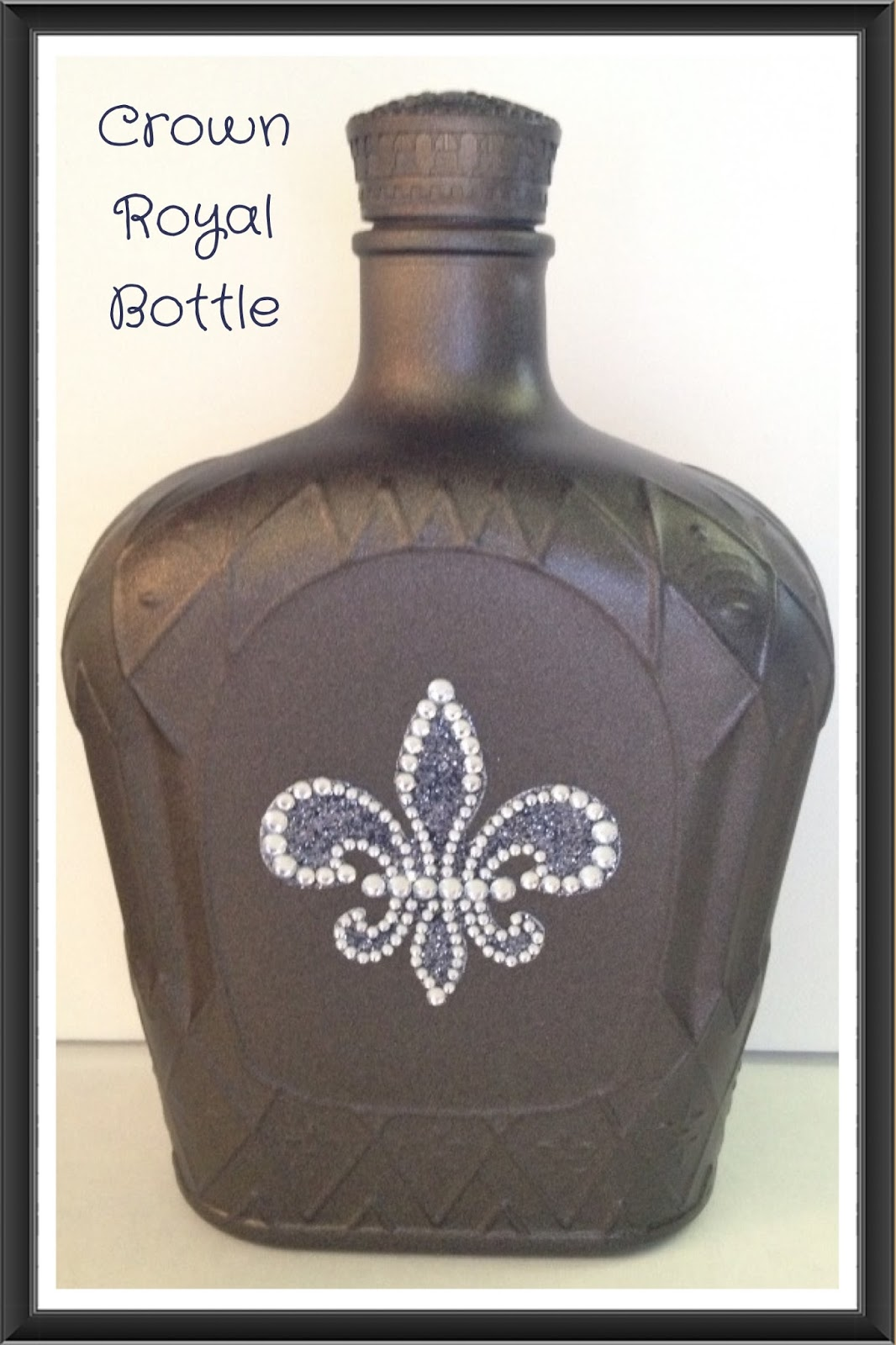 Painted Crown Bottle