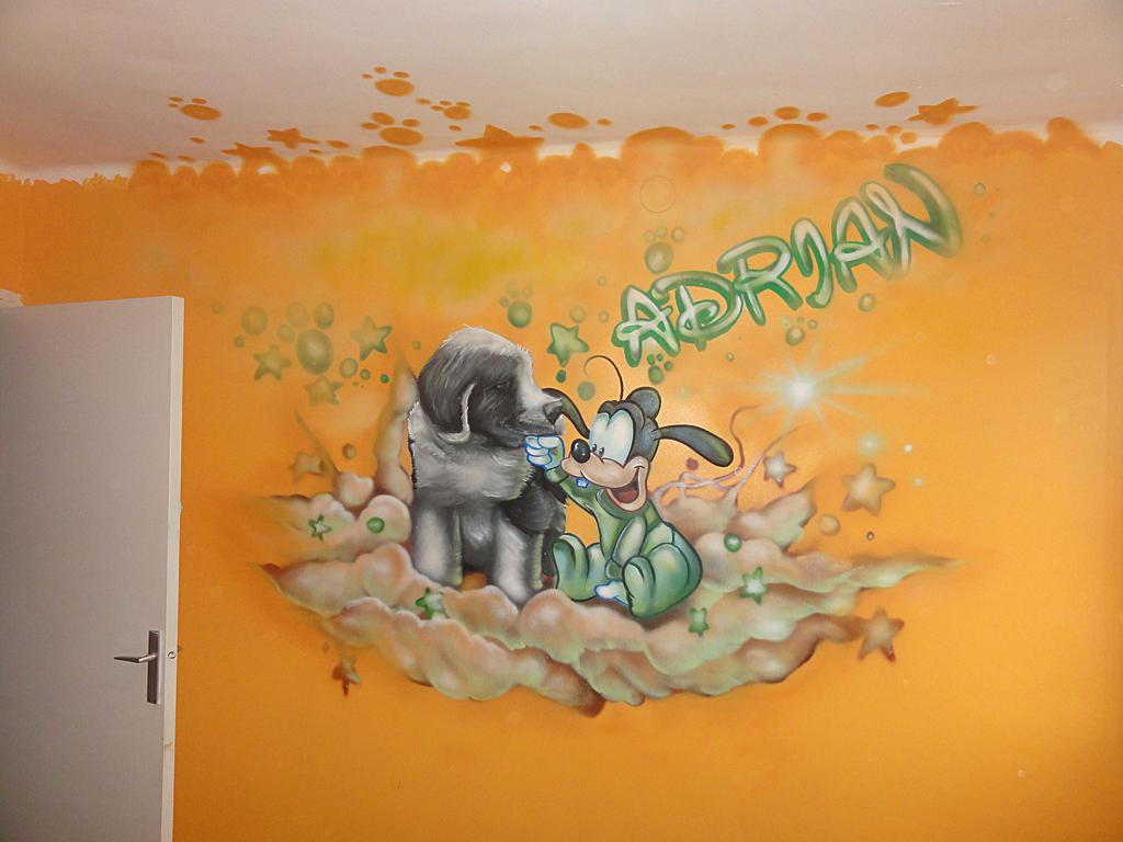 Berok graffiti mural profesional en barcelona noviembre 2011 for Mural para pared dormitorio