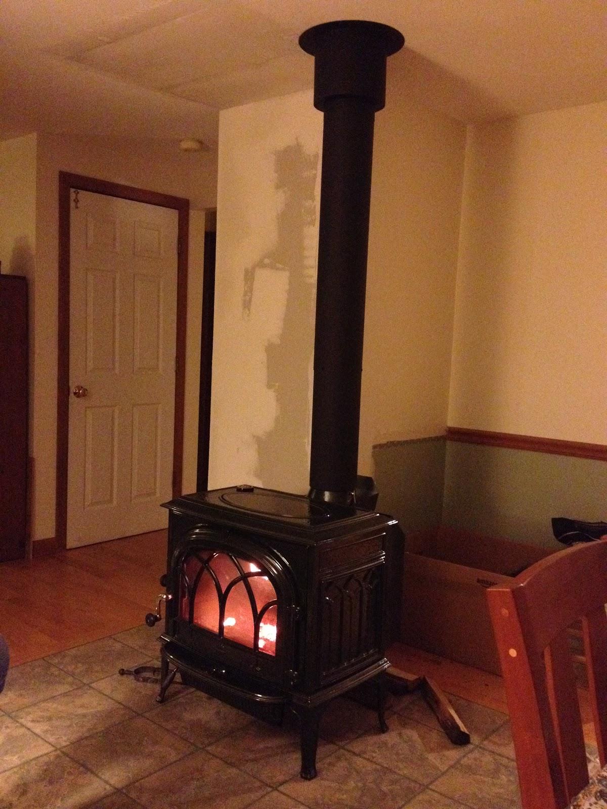 spicebush log the wood stove