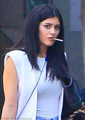 Doris Dosage Blog: She smokes too? Kylie Jenner pictured flaunting cigarette on her lips