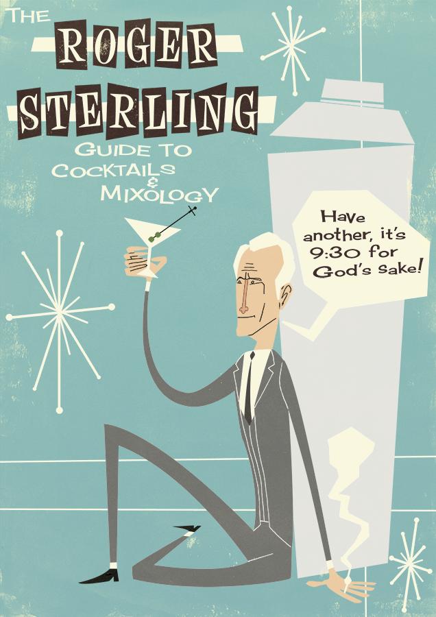 Roger Sterling Mad Men TV show poster