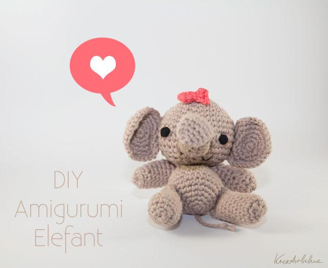 Kuscheltier häkeln Elefant