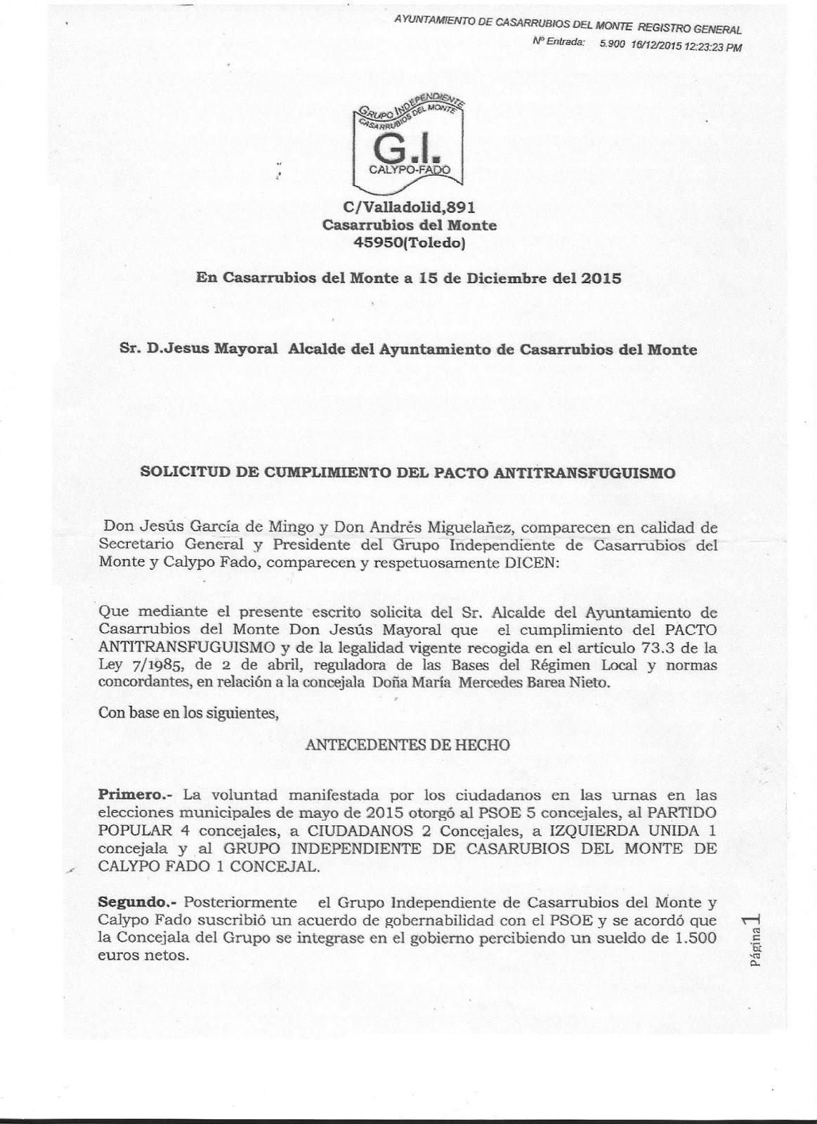 APLICACIÓN CODIGO ANTITRANSFUGUISMO