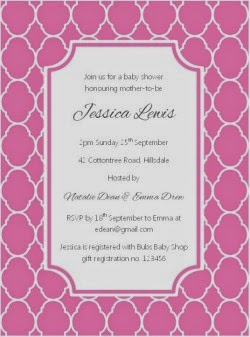 Quatrefoil Party Invitation - Pink