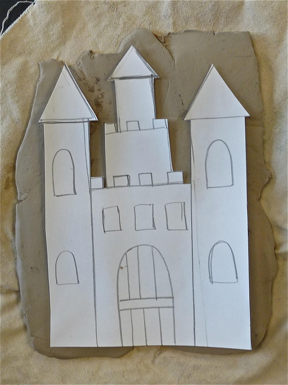 art. paper. scissors. glue!: ceramic slab castles