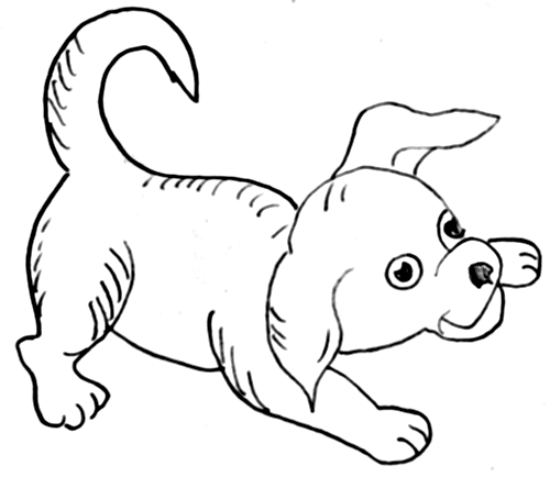 How to draw a cartoon dog - photo#12