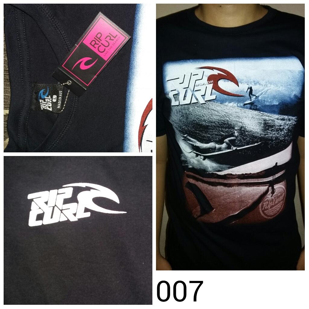 Kaos Distro Ripcurl T Shirt Hitam Daftar Harga Terbaru Dan Grosir Surfing Impor Quiksilverripcurlbillabong Volcom Dll