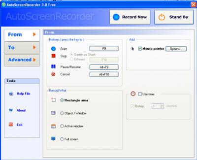 AutoScreenRecorder Pro 3.0 - Phần mềm quay màn hình máy tính