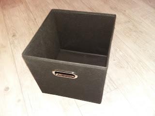 boite rangement tissu noir chromé métal